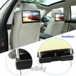 10 1024600 Touch Screen Backseat Car Headrest DVD Player FM 32 bit Game Remote