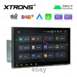 10.1 Android 10 Car GPS Sat Nav Radio Stereo 2K DVD Player Double DIN OBD WiFi