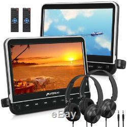 10.1 Car Headrest DVD Player Double Monitors Region Free HDMI-IN USB+Headphone