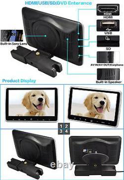 10.1 Digital Car TFT LCD DVD Player Headrest Monitor HDMI USB SD IR/FM Game