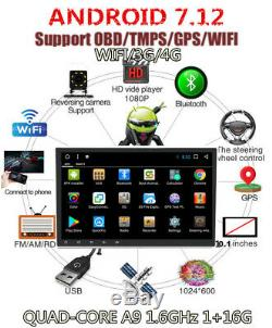 10.1 HD 2 DIN Android 7.12 Quad-Core A9 Car Stereo Radio GPS Wifi 4G DVD Player