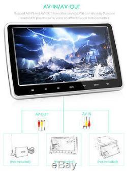 10.1'' HD Car Headrest Monitor DVD Player Kit USB/SD/HDMI/FM/Game TFT LCD Screen