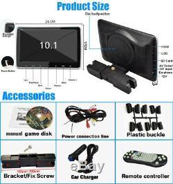 10.1 HD TFT Headrest DVD Player Car Multimedia Back Seat Entertainment Monitor