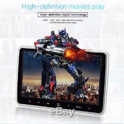 10.1 LCD Screen In-Car & Portable Car Headrest DVD Player HD SD USB IR FM Game