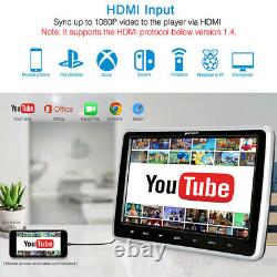 10.1 Slot-in LCD Car Headrest DVD Player Digital Monitor TV HDMI USB SD+Headset
