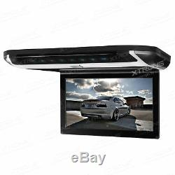 10'' Car Roof Mount Flip Down Monitor Overhead DVD CD Player Game + 2x Headphone