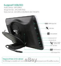 10 Headrest Car DVD Player Monitor Plug-and-Play Rear-Seat Entertainment System