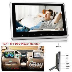 10 TFT Rear-Seat Monitor Headrest Car DVD Player Touch Botton Handsfree HDMI FM