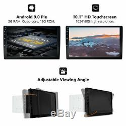 10 inch Smart Android 9.0 4G WiFi Double DIN Car Radio Stereo Player GPS+Camera