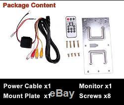 12.1'' HD Car SUV Roof Overhead Monitor MP5 DVD Player HDMI SD AV Remote Control
