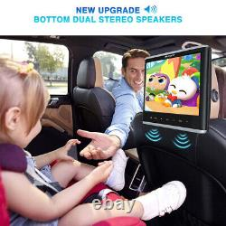 12 IPS Screen Slot-in Car Headrest Video DVD Player Monitor HDMI TV USB+Headset