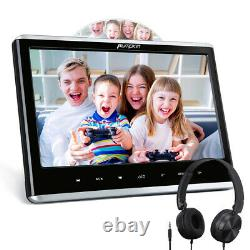 12 Slot-in DVD Player Car Headrest Digital Monitor TV 1366768 HDMI USB+Headset