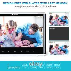 12 Slot-in DVD Player Car Headrest Monitor TV HDMI 1366768 Region Free+Headset