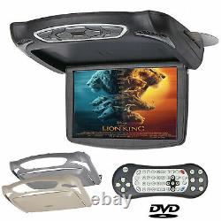 13Inch Flip Down Monitor Video with DVD Player 1280P Car Top Roof Slim Wide Screen