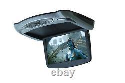 13.3 HD Car Monitor USB Card Player Roof Mount DVD Car Flip Down IR