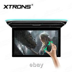 15.6 Android Car Overhead Player Roof Mount Monitor Flip Down 8K Video Screen