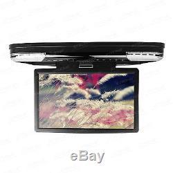 15.6 Car Roof Flip Down DVD Player Game HDMI Digital Screen Monitor Headphones