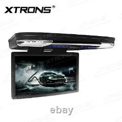 15.6 HD In Car DVD Player Roof Mount Monitor Flip Down +Digital TV Box Receiver