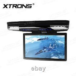 15.6 HD In Car DVD Player Roof Mount Monitor Flip Down Video Screen HDMI FM IR