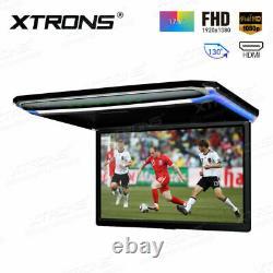 17.3 1080P FHD Screen Roof Mounted Monitor Ceiling Flip Down Car Caravan HDMI