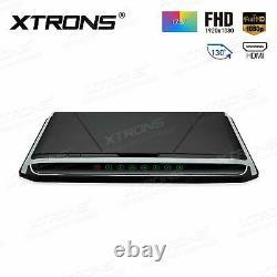 17.3 1080P HD Car Roof Flip Down Monitor HDMI Overhead Free 2pcs IR Headphones