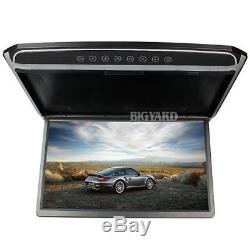 17.3 DVD Player Roof Mount In Car Flip Down Monitor Full HD 1080P SD HDMI USB