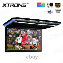 17.3 FHD Screen 1080P Roof Mounted Monitor Ceiling Flip Down car Coach Caravan