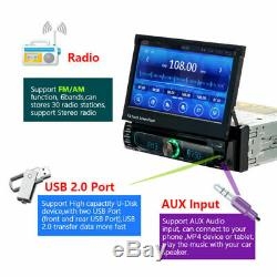 1 DIN 7 Car Radio Android 8.0 Stereo WiFi Bluetooth GPS MP5 DVD Player + Camera