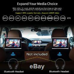 1x 10.1'' Touch Screen Car Headrest Monitor DVD Player Bluetooth 3G/4G WiFi HDMI