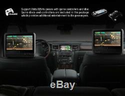 2020 Gray Dual 9 Digital Touchscreen Headrest LCD Car Monitor DVD Player Usb
