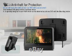 2020 HD Car 9 Touch Screen Headrest Monitor DVD Players Games Headphones USB SD