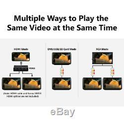 2020 New 2x 11.6IPS Screen Car Headrest TV Monitor DVD/USB/SD/HDMI Player IR/FM