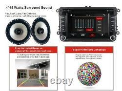 2Din Uk 7Car Stereo DVD Radio Player GPS SatNav for VW Caddy Golf MK6 Passat CC