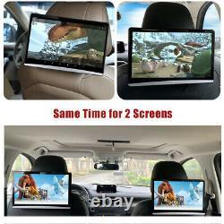 2PC 13.3Android 9.0 Car Headrest Screen Monitor 4K 1080P WIFI Bluetooth HDMI FM