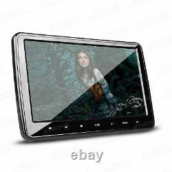2Pcs 10.1 Car Headrest DVD Player HD Slim Screen AUX SD HDMI Rear Seat Game USB