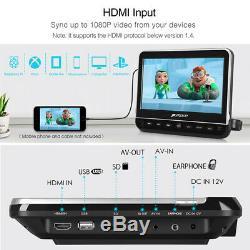 2X10.1HD Car Headrest DVD Player LCD Monitor TV Screen HDMI USB/SD AV+Headphone