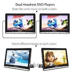2X10.1 Slot-in Twin Screen Car DVD Player for Kids Headrest Monitor USB+Headset
