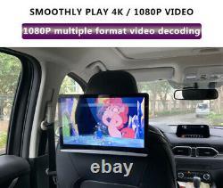 2X12.5 Android 9.0 Car Headrest Monitor Screen 1080P WIFI Bluetooth USB HDMI FM