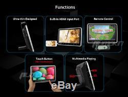 2X 10.1 Digital Screen Portable In-Car Headrest Monitor DVD Player AV USB SD