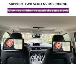 2X 12.5Android 9.0 Car Headrest Monitor Screen 1080P WIFI Bluetooth USB HDMI FM