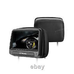2X 9 Car Monitor Pillow DVD Player Digital Touch Panel Headrest + IR Headphones