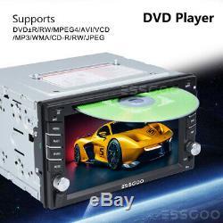 2 DIN 6.2'' Car Head Unit DVD Player RDS AM GPS Sat Nav Stereo + Rearview Camera