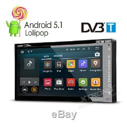 2 DIN Android 5.1 Car DVD Player Stereo GPS DAB+ Radio DVB-T Freeview Digital TV