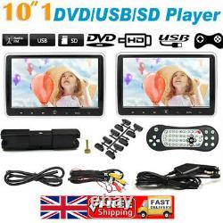 2pcs 10.1'' Car Headrest DVD Player In Car Auto Monitor TouchButton FM/SD Card
