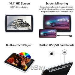 2x10HDMI Car DVD Player Digital TFT LCD Screen Headrest Monitor USB SD IR/FM US
