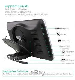 2x10.1 Car Headrest DVD CD Player Digital Screen Monitor USB IR FM Game+Headset