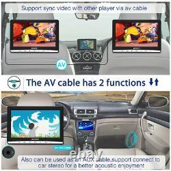 2x12 IPS Screen Solt-in Car Headrest Monitor TV DVD Player 1366768 USB+Headset
