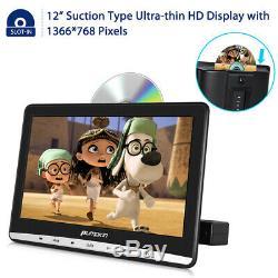 2x12 Slot-In Dual Car Headrest DVD Player 1366768 Digital Monitor USB+Headsets