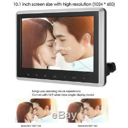 2x 10.1Twin Digital Car Headrest HD DVD Player Touch Monitor USB SD Game+Remote