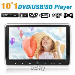 2x 10.1'' Car Headrest DVD Player In Car Auto Monitor TouchButton FM/SD UK